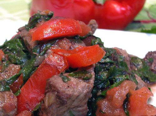 Steak and Greens