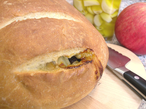 Garlic Bacon Apple Bread 2